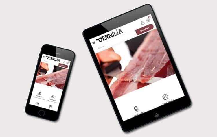 Tienda online Pernilia responsive